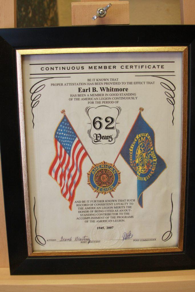 Whitmore certificate